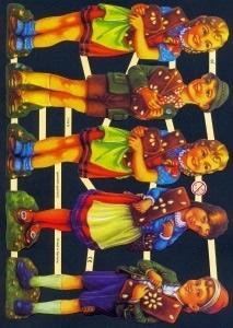 Glanzbilder Kinder,  Glanzbilder,  Kinder,  Kinder,  Lebkuchen