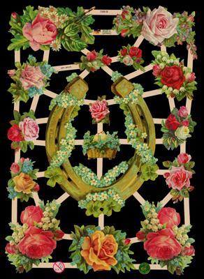 Glanzbilder Blumen/Hufeisen,  Glanzbilder,  Blumen,  Rosen