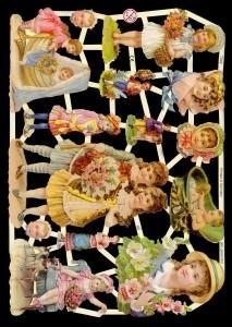 1 Bogen Glanzbilder ,  Glanzbilder,  Glanzbilder,  Mädchen