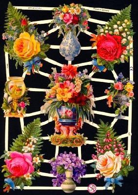 Glanzbilder Rosen in Farn,Jugendtraum,  Glanzbilder,  Glanzbilder,  Rosen