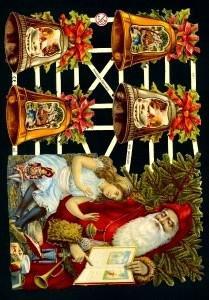 Glanzbilder Weihnachten&Glocken,  Glanzbilder,  Glanzbilder,  Weihnachtsmann,  Glocken
