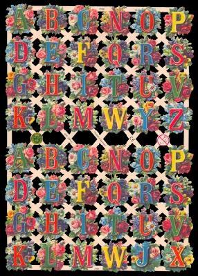 Glanzbilder mit Glimmer Buchstaben,Jugendtraum,  Blumen,  Glanzbilder mit Glimmer,  Glanzbilder mit Glimmer,  Blumen,  Buchstaben