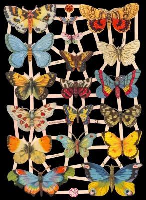 1 Bogen Glanzbilder ,  Glanzbilder,  Glanzbilder,  Schmetterlinge
