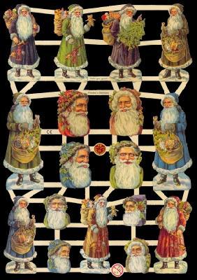 Glanzbilder Weihnachten,Jugendtraum,  Glanzbilder,  Glanzbilder,  Weihnachtsmann