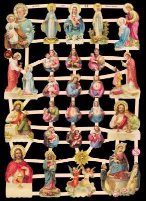 Glanzbilder Heiligenfiguren,  Glanzbilder,  Glanzbilder,  Jesus