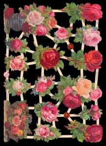 Glanzbilder mit Glimmer Rosen