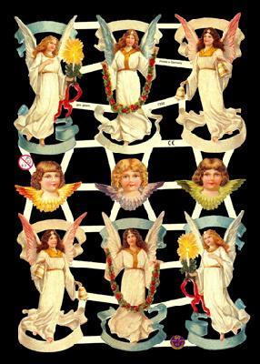 1 Bogen Glanzbilder mit Glimmer ,  Glanzbilder mit Glimmer,  Glanzbilder mit Glimmer