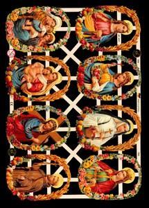 1 Bogen Glanzbilder ,  Glanzbilder,  Glanzbilder,  Jesus