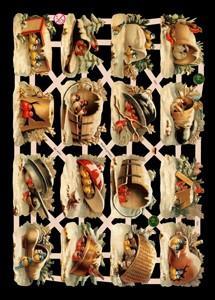 Glanzbilder Vögel,  Glanzbilder,  Glanzbilder,  Vögel,  Krüge