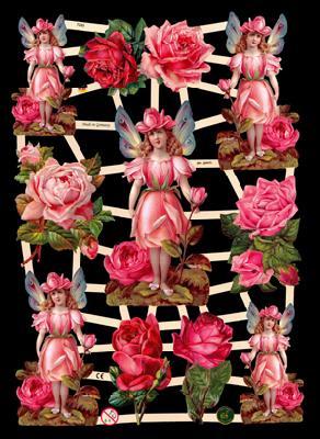 Glanzbilder Rosen,Elfen