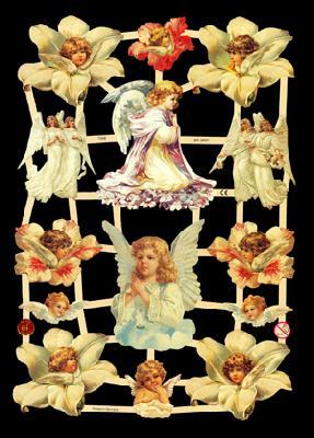 Glanzbilder Engel, weiße,  Glanzbilder,  Glanzbilder,  Elfen