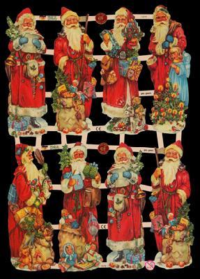 Glanzbilder Weihnachtsmann,  Glanzbilder,  Glanzbilder,  Weihnachtsmann