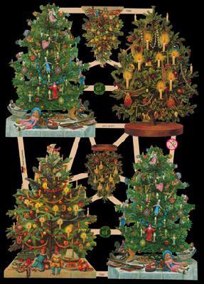 Glanzbilder 6 Tannenbäume,  Glanzbilder,  Glanzbilder,  Weihnachtsbaum