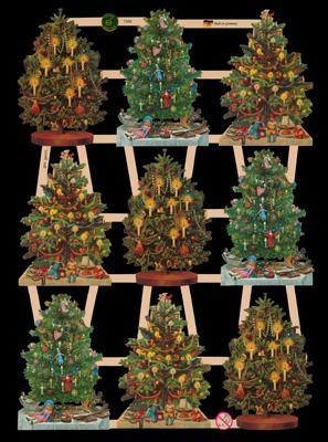 Glanzbilder 9Tannenbäume,  Glanzbilder,  Glanzbilder,  Weihnachtsbaum