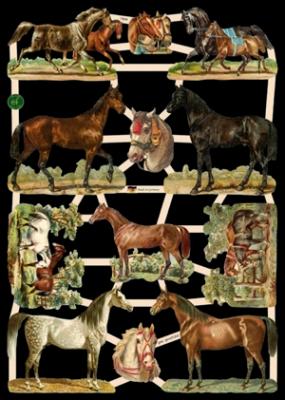 Glanzbilder mit Glimmer,  Glanzbilder mit Glimmer,  Tiere,  Everyday,  Pferde