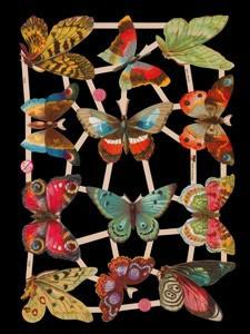 Glanzbilder mit Glimmer Schmetterlinge,  Glanzbilder mit Glimmer,  Glanzbilder mit Glimmer,  Schmetterlinge