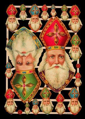 Ernst Freihoff GmbH,  Glanzbilder,  Weihnachtsmänner,  Weihnachtsmann