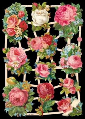 Glanzbilder mit Glimmer,  Glanzbilder mit Glimmer,  Blumen,  Everyday,  Rosen