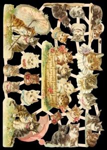 Glanzbilder mit Glimmer Katzen,  Glanzbilder mit Glimmer,  Tiere,  Everyday,  Katzen