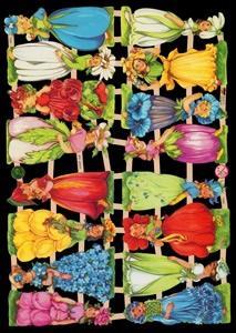Glanzbilder Blumenkinder,  Glanzbilder,  Glanzbilder,  Elfen