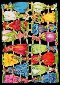 Glanzbilder mit Glimmer Blumenkinder,  Glanzbilder mit Glimmer,  Glanzbilder mit Glimmer,  Elfen