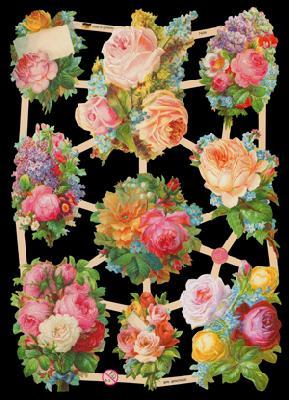 Glanzbilder Blumen,  Glanzbilder,  Blumen,  Rosen