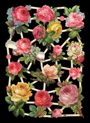 Poesiebilder / Glanzbilder,  Glanzbilder,  Blumen,  Sommer,  Rosen