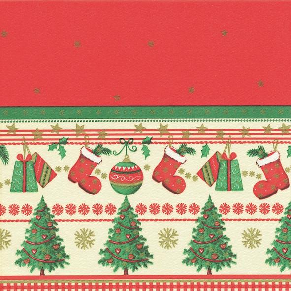 Dinner Servietten Traditional Christmas, dinnerservietten,  Weihnachtsbaum,  Stiefel