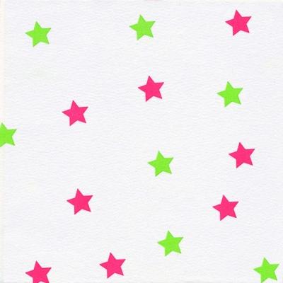 Dinner Servietten Little Stars red/green, dinnerservietten,  Sterne