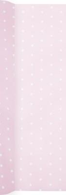 Tischläufer,  Punkte,  rosa