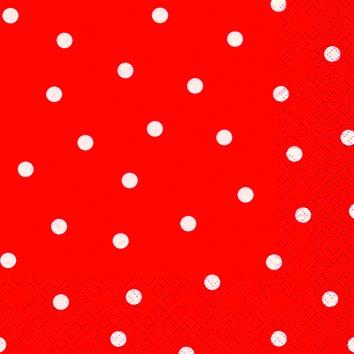 Cocktail Servietten Punkte rot,  Sonstiges - Muster,  Everyday,  cocktail servietten,  Punkte