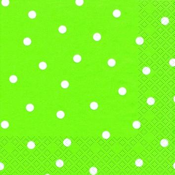 Cocktail Servietten Punkte hellgrün