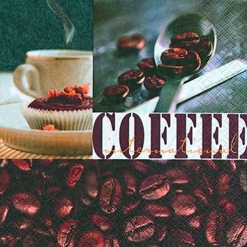 20 Servietten - 25 x 25 cm Coffee Spirit,  Getränke Kaffee / Tee,  Everyday,  cocktail servietten
