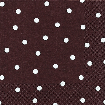 Cocktail Servietten Punkte brown,  Sonstiges - Muster,  Everyday,  cocktail servietten,  Punkte