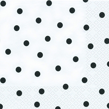 Cocktail Servietten Modern Dots black,  Sonstiges - Muster,  Everyday,  cocktail servietten,  Punkte,  Kreise