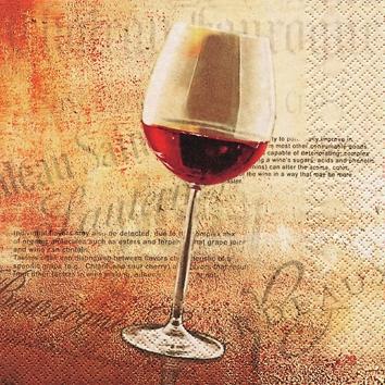 Cocktail Servietten Classic Red Wine,  Sonstiges - Schriften,  Getränke - Wein / Sekt,  Everyday,  cocktail servietten