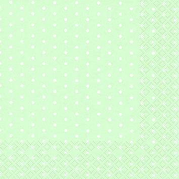 Cocktail Servietten Mini Dots pastel green