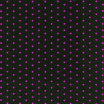 Cocktail Servietten Mini Dots black/berry