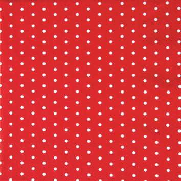 Cocktail Servietten Mini Dots red/white,  Sonstiges - Muster,  Everyday,  cocktail servietten,  Punkte,  rot