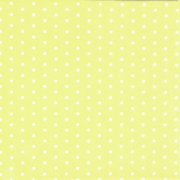 Cocktail Servietten Mini Dots yellow/white