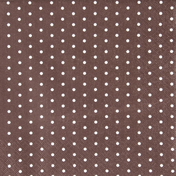 Cocktail Servietten Mini Dots brown/white,  Sonstiges - Muster,  Everyday,  cocktail servietten,  Punkte