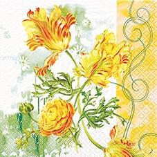 20 Servietten - 33 x 33 cm Tulip Art,  Blumen -  Sonstige,  Everyday,  lunchservietten,  Ranunkel