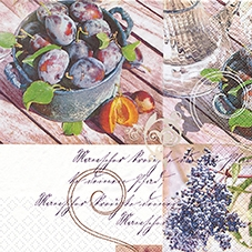 20 Servietten - 33 x 33 cm Fresh Plums,  Sonstiges - Schriften,  Früchte -  Sonstige,  Everyday,  lunchservietten,  Pflaumen