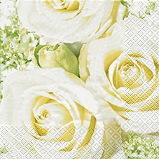 Lunch Servietten White Roses,  Blumen - Rosen,  Everyday,  lunchservietten,  Rosen