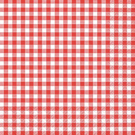 Lunch Servietten Karo red,  Sonstiges - Muster,  Everyday,  lunchservietten,  Karos,  rot