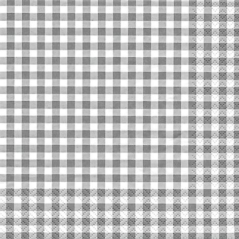 Lunch Servietten Karo grey,  Sonstiges - Muster,  Everyday,  lunchservietten,  Karos,  grau