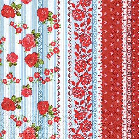 Home Fashion,  Blumen - Rosen,  Sonstiges - Muster,  Blumen -  Sonstige,  Everyday,  lunchservietten