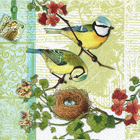 Lunch Servietten Bird Family