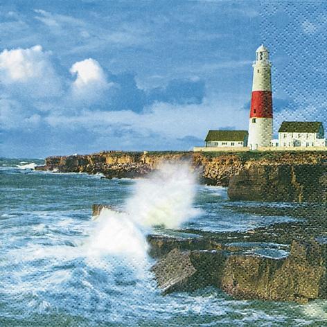 Lunch Servietten Lighthouse on a Cliff