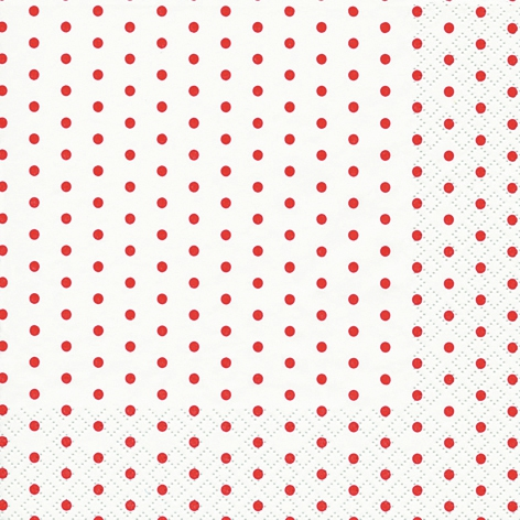 Lunch Servietten Mini Dots white/red,  Sonstiges - Muster,  Everyday,  lunchservietten,  Punkte